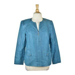 JM Collection Jackets 10 Blue